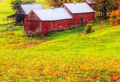 Mixed Media - Autumn On Jenne Farm by Dan Sproul