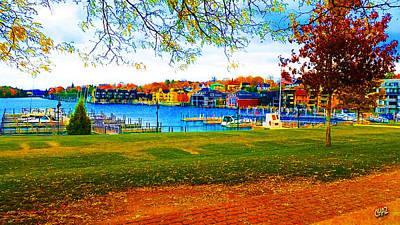 Autumn On Lake Charlevoix Art Print