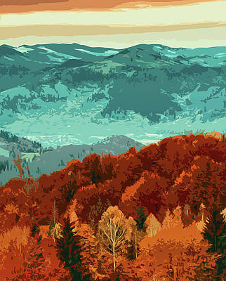 Painting - Autumn On Mountains And Forests by Andrea Mazzocchetti
