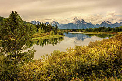 Photograph - Autumn On Oxbow Bend 2 - Mount Moran - Grand Teton National Park Wyoming by Brian Harig