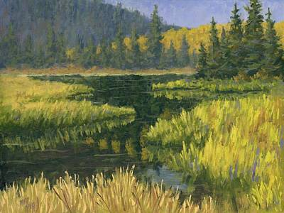 Mountain Painting - Autumn On Silver Lake by David King