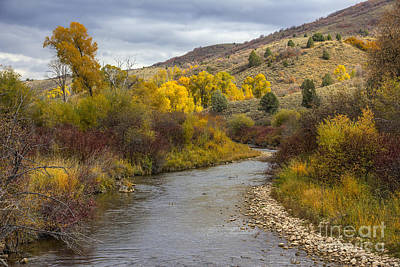 Photograph - Autumn On South Fork Ogden River by Spencer Baugh