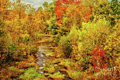 Digital Art - Autumn On The Ammonoosuc by Gene Healy