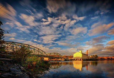 Photograph - Autumn On The Androscoggin River by Rick Berk