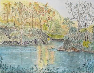 Autumn On The Ausable River Art Print