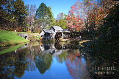 Photograph - Autumn On The Blue Ridge Parkway At Mabry Mill by Schwartz Nature Images