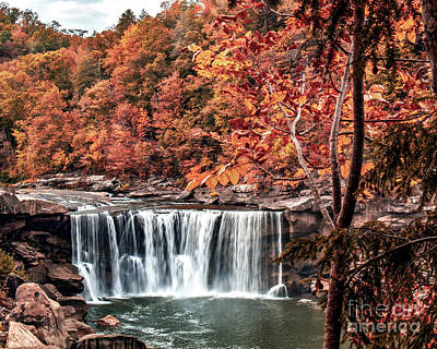 Photograph - Autumn On The Cumberland  Autumn At The Falls by Ken Frischkorn