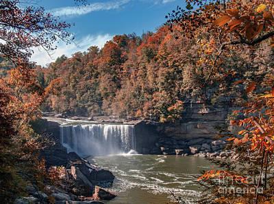 Photograph - Autumn On The Cumberland  Cumberland Falls by Ken Frischkorn