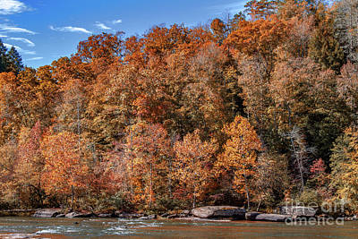 Photograph - Autumn On The Cumberland  Foliage by Ken Frischkorn