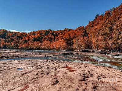 Photograph - Autumn On The Cumberland  Low Water by Ken Frischkorn