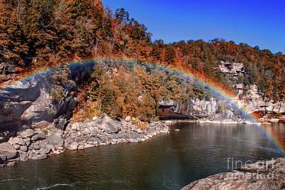 Photograph - Autumn On The Cumberland  Rainbow Bridge by Ken Frischkorn