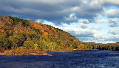 Photograph - Autumn On The Delaware by Elsa Marie Santoro