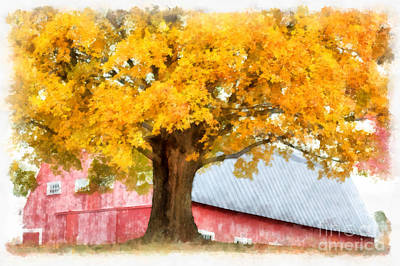 Digital Art - Autumn On The Farm by Edward Fielding