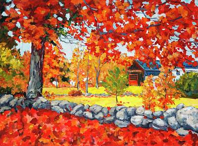 Painting - Autumn On The Farm by Ingrid Dohm