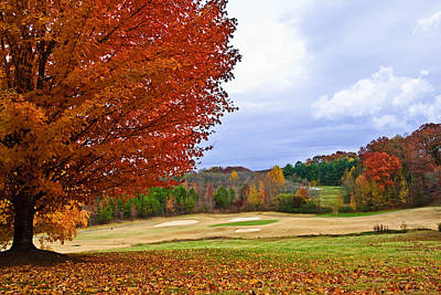 Autumn On The Golf Course Print by Susan Leggett