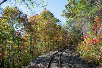 Photograph - Autumn On The Hiawassee Rails by John Black