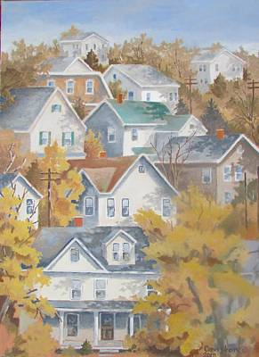 Painting - Autumn On The Hill by Tony Caviston