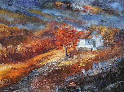 Smokey Mountains Painting - Autumn On The Hilltop by Tim Ford