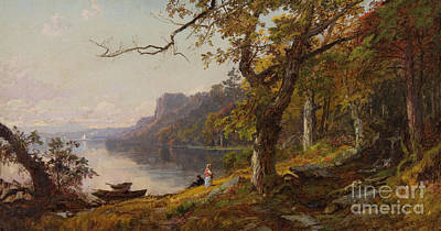 Jasper Francis Cropsey Painting - Autumn On The Hudson by Celestial Images