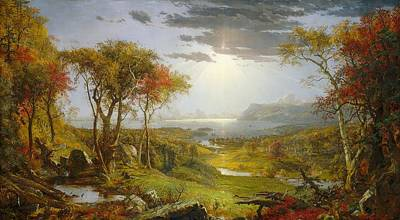 Autumn On The Hudson River  Art Print
