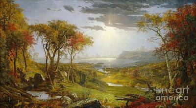 Jasper Francis Cropsey Painting - Autumn On The Hudson River by MotionAge Designs
