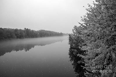 Photograph - Autumn On The Kennebec Bw by Kevin Fortier