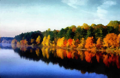 Photograph - Autumn On The Lake by Joseph Frank Baraba