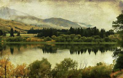 Autumn On The Lake Art Print by Margaret Hormann Bfa