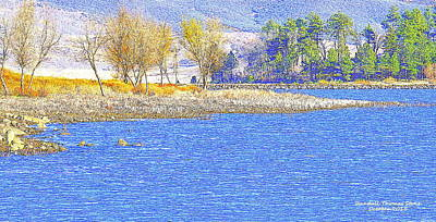Photograph - Autumn On The Lake by Randall Thomas Stone