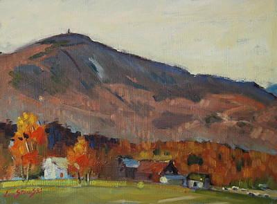 Autumn On The Mountain Art Print by Len Stomski