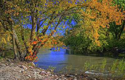 Photograph - Autumn On The North Raccoon by Bruce Morrison