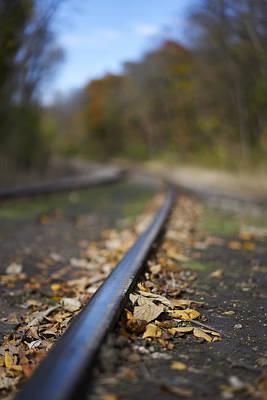 Autumn On The Rails Art Print by Matt Veldey