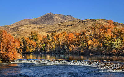 Photograph - Autumn On The River by Robert Bales