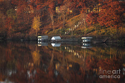 Photograph - Autumn On The River by Viviana  Nadowski