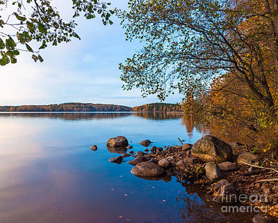 Photograph - Autumn On The Rocks by Ismo Raisanen