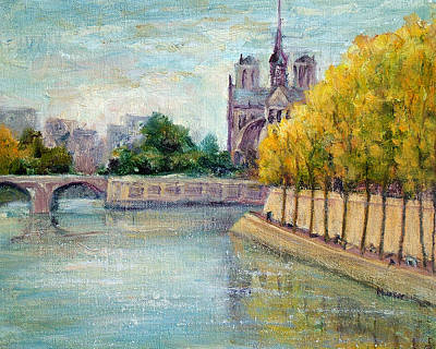Autumn On The Seine Art Print