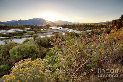 Photograph - Autumn On The South Fork by Idaho Scenic Images Linda Lantzy