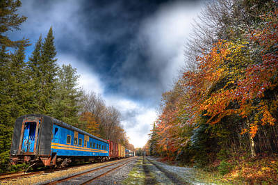 Autumn On The Tracks Art Print