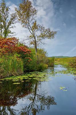 Photograph - Autumn On The Wye River by Irwin Seidman