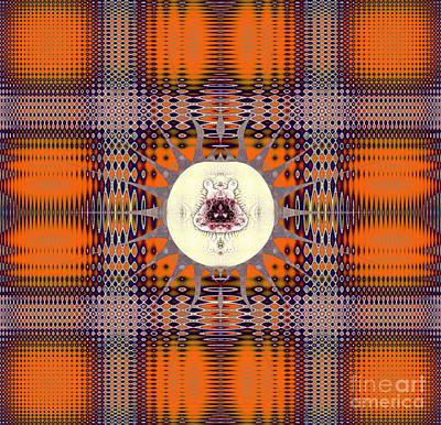 Personalized Name License Plates - Autumn orange plaid by Viktor Birkus