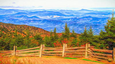 Painting - Autumn Over The Blue Ridge Mountains by Dan Sproul