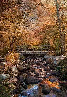 Photograph - Autumn Over The Bridge by Robin-Lee Vieira