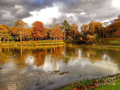 Photograph - Autumn Over The Lake At Hesketh Park 2 by Joan-Violet Stretch