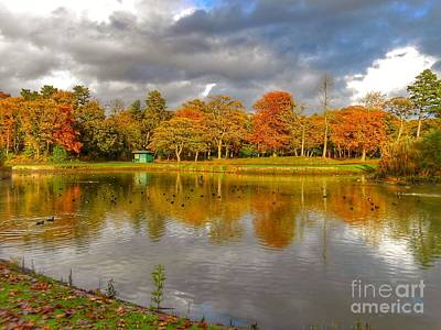 Photograph - Autumn Over The Lake At Hesketh Park by Joan-Violet Stretch