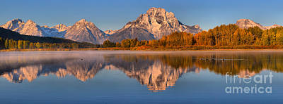Photograph - Autumn Oxbow Bend Reflections by Adam Jewell