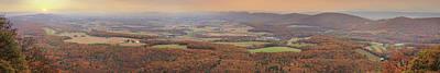 Digital Art - Autumn Panorama Of Powells Valley by Lori Deiter