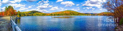 Photograph - Autumn Panorama Of Red House Lake In Allegany State Park by Rose Santuci-Sofranko