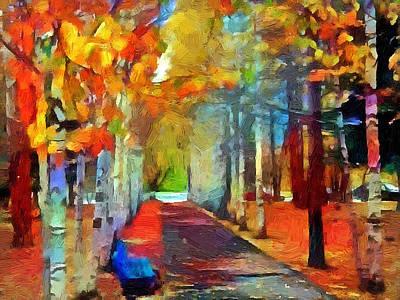 Digital Art - Autumn Park by Yury Malkov