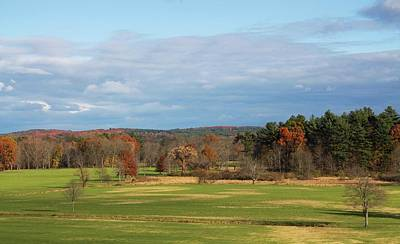 Photograph - Autumn Pasture View From Dexter Drumlin by Michael Saunders