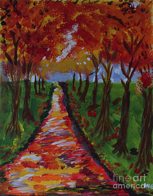 Painting - Autumn Path by Donna Brown